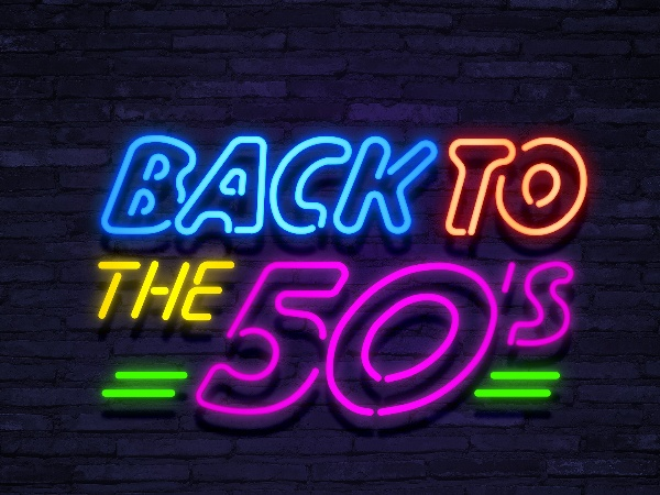 neon Back to the 50's